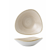 Churchill Bowl stonecast triangel beige 235 mm, doos 12 stuks