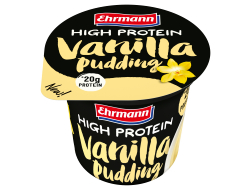 Pudding vanilla high protein 200 gr per beker, tray 8 bekers