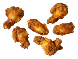 Hot & spicy chicken wings 1 kg per zak, doos 5 zakken