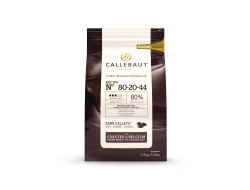 Chocolade callets powerful flavour 80% cacao, zak 2,5 kg