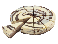 White & Dark Chocolate Baked Cheesecake 12 punten, doosje 1,44 kilo