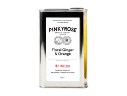 Limonadesiroop floral ginger & orange, blik 500 ml