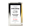 Pinkyrose Limonadesiroop floral ginger & orange, blik 500 ml