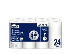 Toiletpapier advanced 2-laags T4 400 vellen per stuk, zak 24 pakken