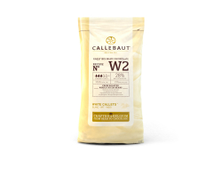 Witte chocolade callets 28% cacaoboter, zak 1 kg