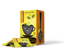Tea Infusion thee gember en citroen fairtrade bio 2,5 gr per zkj, dsj 25 zkj