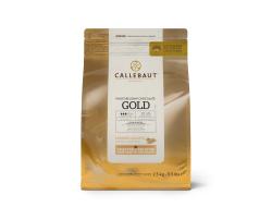 Callets karamel chocolade gold, zak 2,5 kg