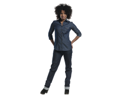 Blouse dames blue denim m, per stuk