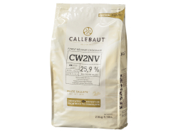 Witte chocolade callets 25,9% cacaoboter, zak 2,5 kg