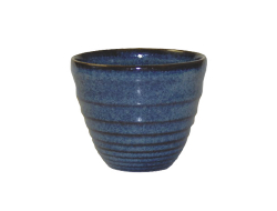Sausbakje bit on the side blauw ripple 0,11 ltr 70x62 mm, doos 12 stuks