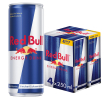 Red Bull Energy drink 4-pack 25 cl per blik, tray 24 blikken