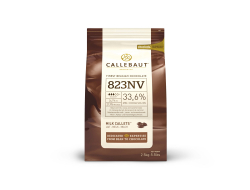 Melkchocolade callets 33,6% cacao, zak 2,5 kg