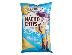 Tortilla chips naturel, zak 450 gr