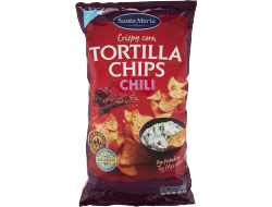 Tortilla chips chilli, zak 475 gr
