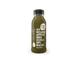 Smoothie groen HPP 250 ml per fles, krimp 6 flessen