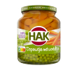 Hak Extra fijne doperwtjes en worteltjes, pot 370 ml