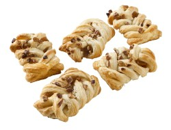Mini maple pecan plaits 42 gr per stuk, doos 120 stuks