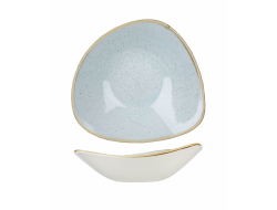 Bowl stonecast triangel duck egg 235 mm, doos 12 stuks